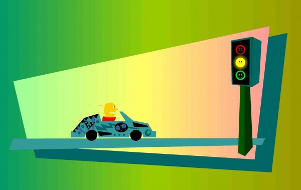 Moody Stoplight Psychology Yellow Light