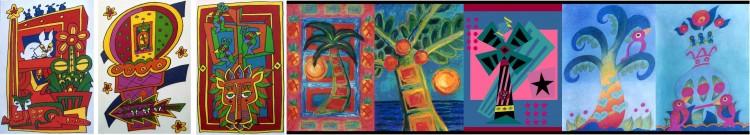Cartoons -n- Birdies -n- Palm Trees