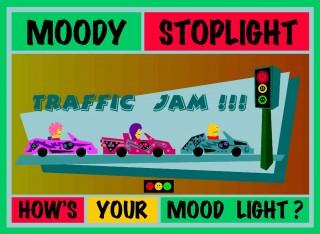 Moody Stoplight Traffic Jam